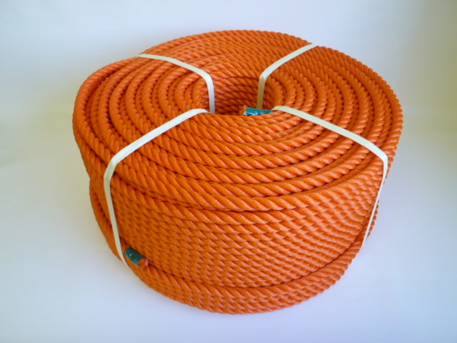 ポリエチレンロープ オレンジ色 直径12mm(200メートル巻き)
