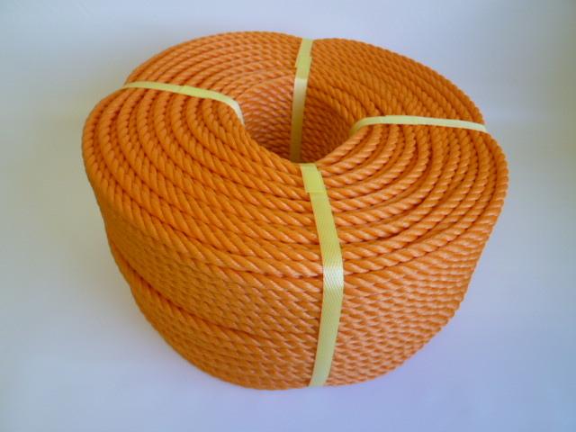 ポリエチレンロープ オレンジ色 直径10mm(200メートル巻き)