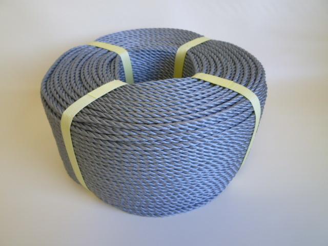 ポリエチレンロープ シルバーグレー色 直径4mm(200メートル巻き)