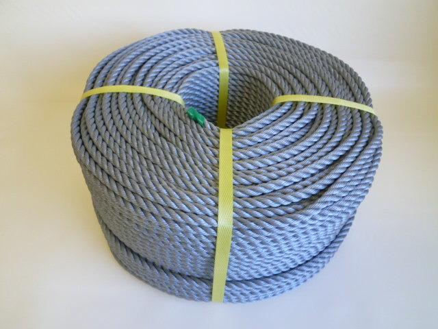 ポリエチレンロープ シルバーグレー色 直径8mm(200メートル巻き)
