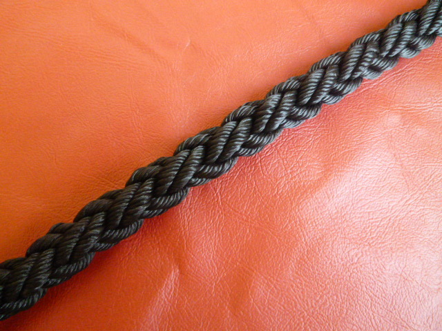 ポリエステルマルチクロスロープ 黒色 直径12mm(切り売り品)メートル単位 最大200mまで