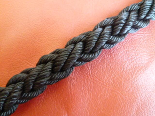 ポリエステルマルチクロスロープ 黒色 直径20mm(切り売り品)メートル単位 最大200mまで