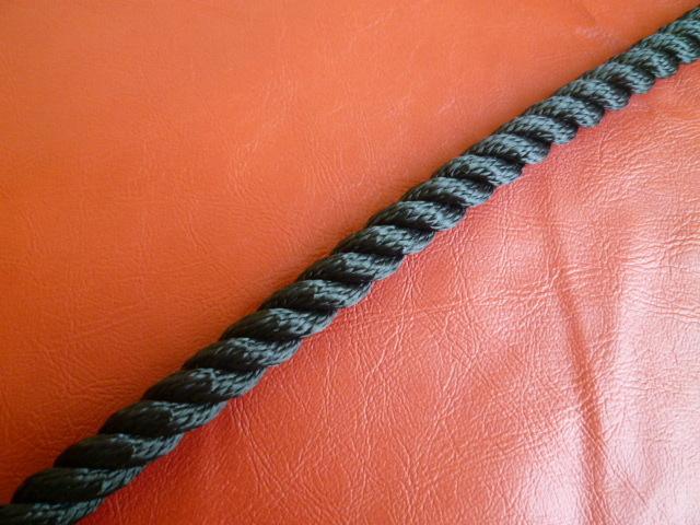 ポリエステルマルチフィラメントロープ 黒色 直径12mm(切り売り品)メートル単位 最大100メートル