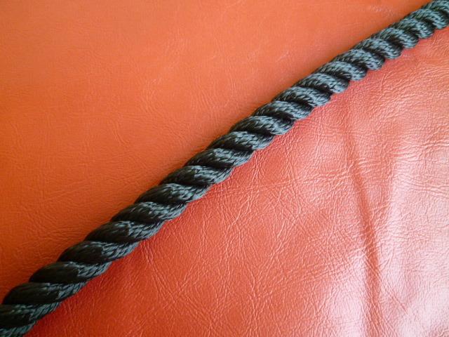ポリエステルマルチフィラメントロープ 黒色 直径16mm(切り売り品)メートル単位 最大100メートル