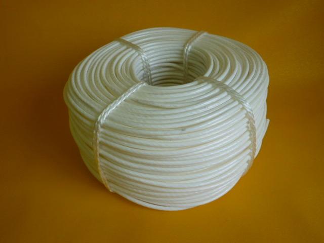 ポリ芯被覆ビニールロープ 白色 直径6mm ×200m