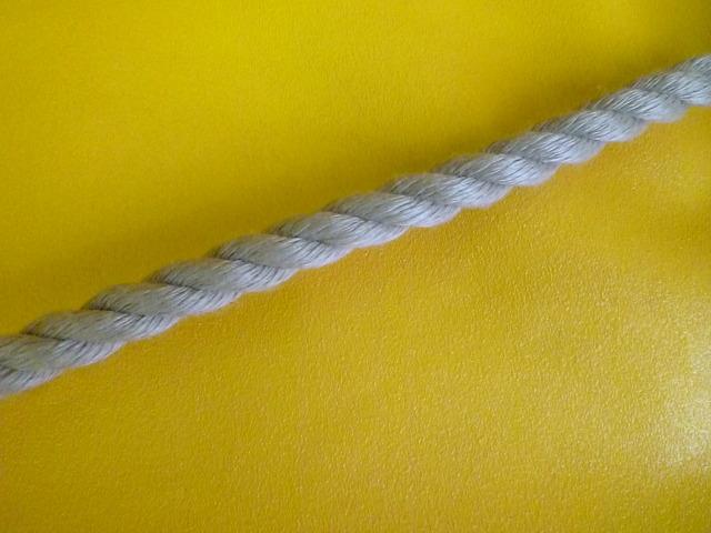 PPスパン薄茶麻カラーロープ  直径6mm(切売り品)メートル単位 最大199メートル