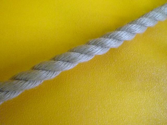 PPスパン薄茶麻カラーロープ  直径12mm(切売り品)メートル単位 最大199メートル