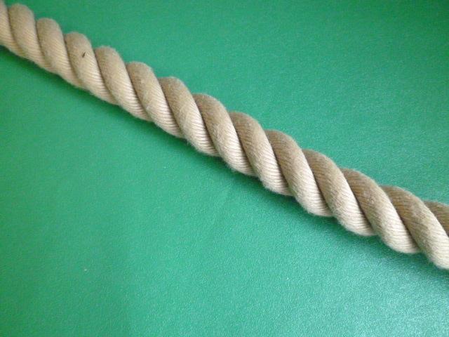 PPスパン薄茶麻カラーロープ  直径24mm(切売り品)メートル単位 最大199メートル