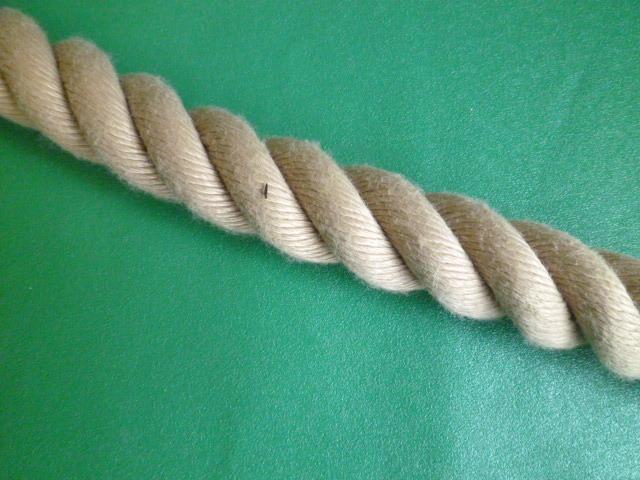 PPスパン薄茶麻カラーロープ  直径30mm(切売り品)メートル単位 最大199メートル