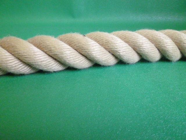 PPスパン薄茶麻カラーロープ  直径36mm(切売り品)メートル単位 最大199メートル