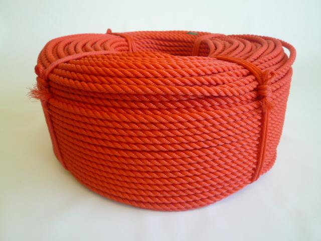 ポリエチレンロープ 赤色 直径10mm(200メートル巻き)
