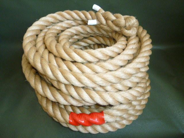綱引きロープ 麻ロープ 直径30mm×20m