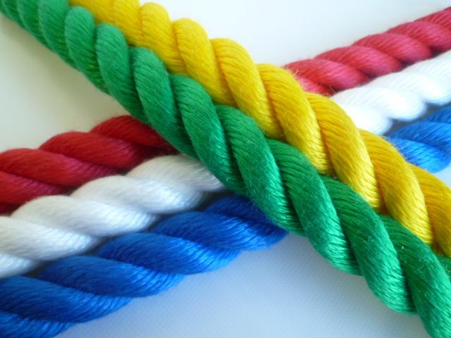 綱引きロープ(ミニ) カラーロープ5色  直径20mm×3m