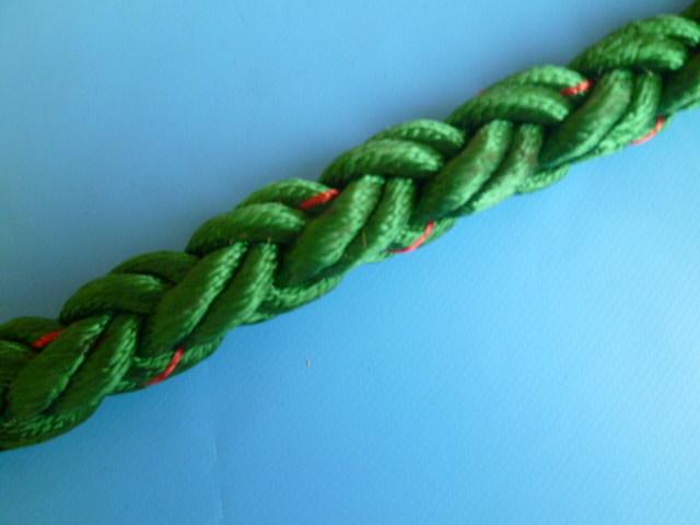 ナイロンクロスロープ 緑色 直径18mm(切り売り品)メートル単位 最大100mまで 限定品