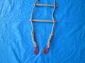 縄梯子(作業用)麻ロープ全長約6m 特注品 端末:片端重量0.5tバネ付フック 片端サツマ止め 中間4m樫棒11本