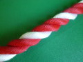紅白ロープ PPスパン 赤/白 直径24mm(切り売り)メートル単位 最大100M