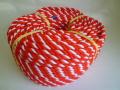 紅白ロープ アクリル赤/白 直径12mm 100m巻