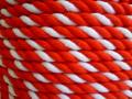 紅白ロープ アクリル赤/白 直径6mm(切り売り)メートル単位 最大100M