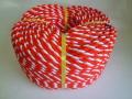 紅白ロープ アクリル赤/白 直径9mm 200m巻