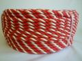 紅白ロープ ポリエチレン赤/白 直径6mm200M巻