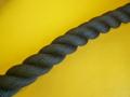 ポリエステルスパンロープ 黒色 直径30mm(切売り品)メートル単位 最大100メートル