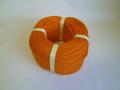 ポリエチレンロープ オレンジ色 直径4mm(200メートル巻き)