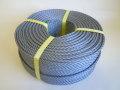 ポリエチレンロープ シルバーグレー色 直径6mm(200メートル巻き)