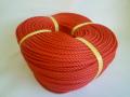 ポリエチレンロープ 赤色 直径5mm(200メートル巻き)
