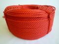 ポリエチレンロープ 赤色 直径8mm(200メートル巻き)