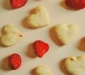 ★期間・数量限定★犬用無添加おやつ バレンタイン 苺入り いちごミニハートクッキー 12枚
