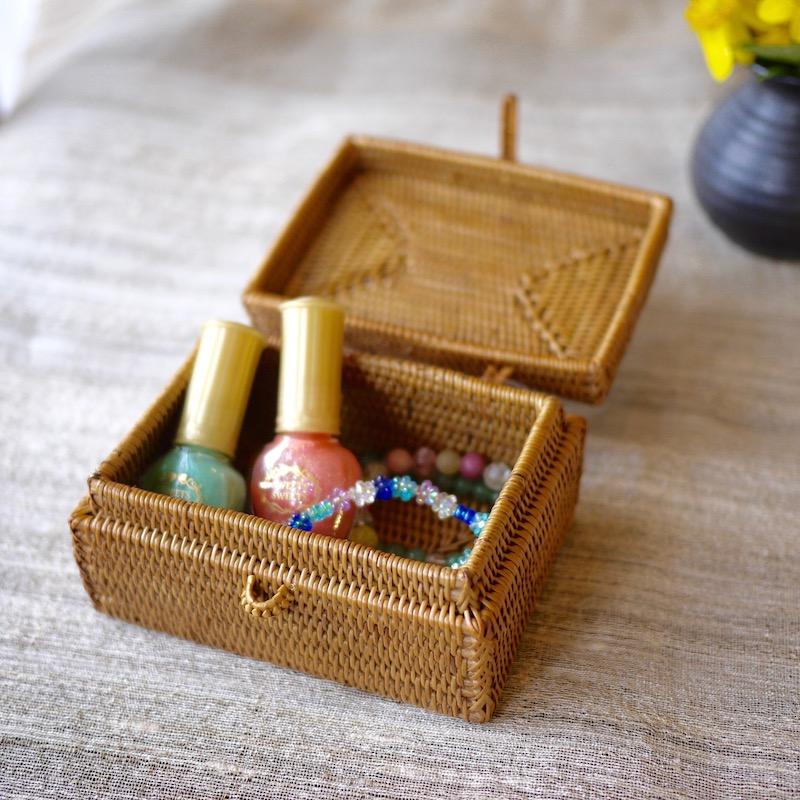 四角小物入れ (BOX360)  Rosily(ロージリー) バリ島 アタかご雑貨 リビング収納