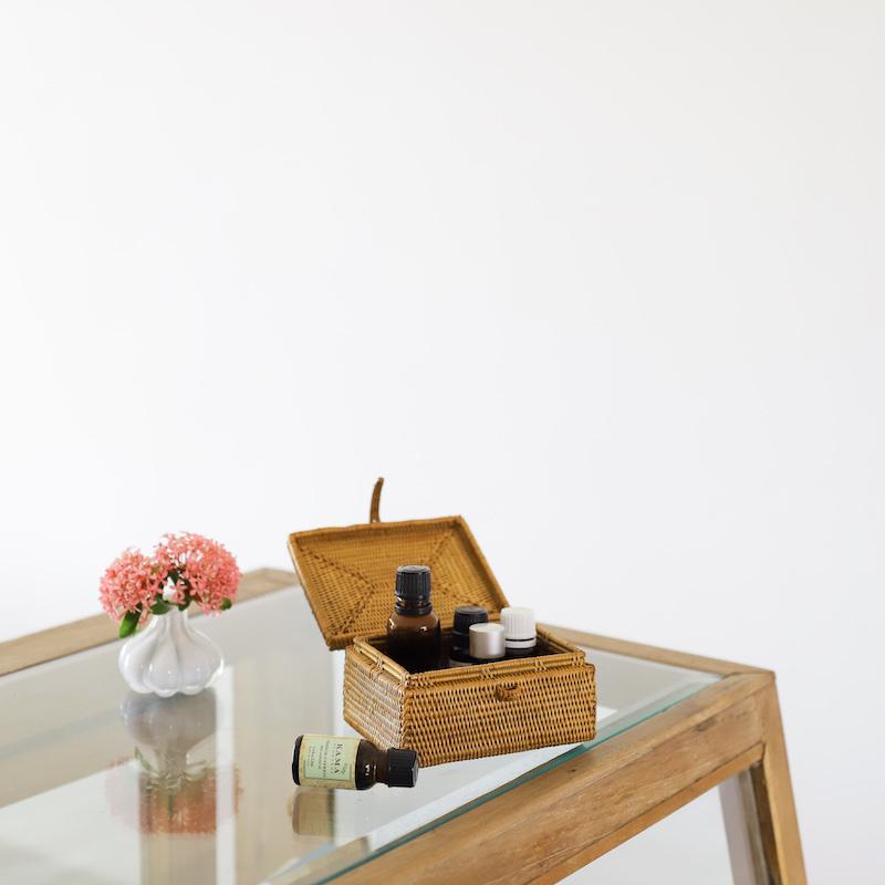 長方形蓋付ハイクオリティ ローサイズ (BOX360)  Rosily(ロージリー) バリ島 アタかご雑貨 リビング収納