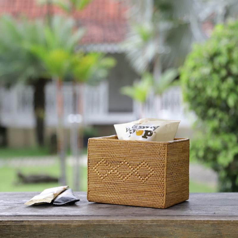 CDボックス ハイクオリティショート  (BOX375)  Rosily(ロージリー) バリ島 アタかご雑貨 収納バスケット リビング