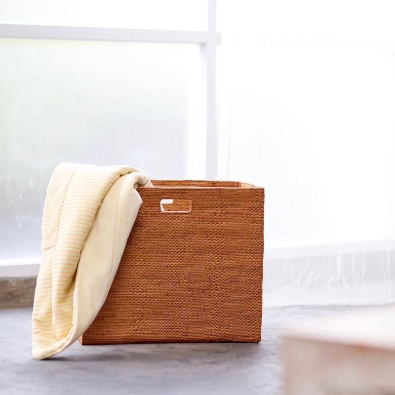 リビングボックス穴開きLサイズ(BOX397)  Rosily(ロージリー) バリ島 アタかご雑貨
