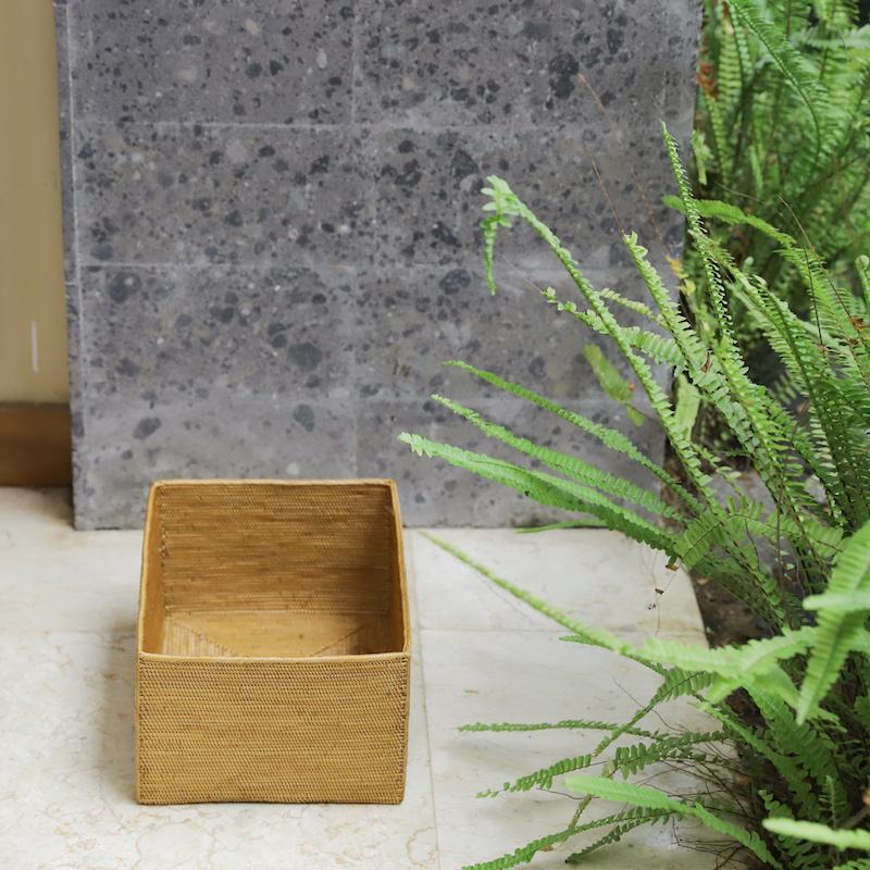 収納箱四角 深型S  (BOX454)  Rosily(ロージリー) バリ島 アタかご雑貨 バスケット  リビング収納