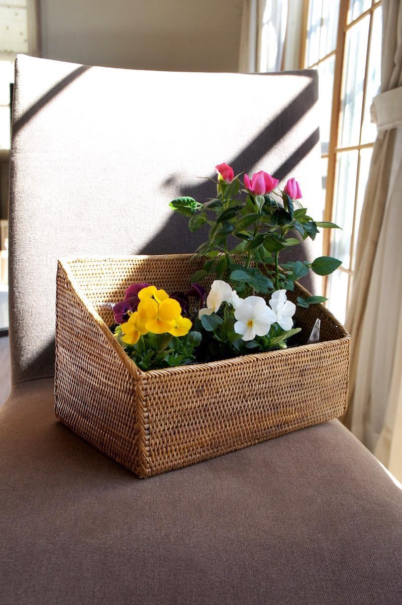 Rosily(ロージリー) バリ島 アタかご雑貨 スパイス入れL (BOX372)