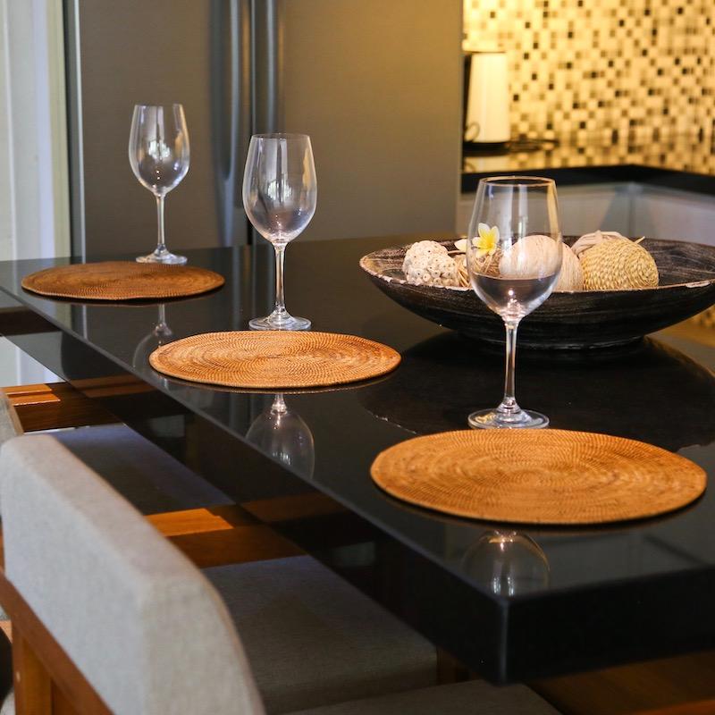 円形鍋敷Lサイズ 1枚 (MAT184)  Rosily(ロージリー) バリ島 アタかご雑貨 キッチンマット