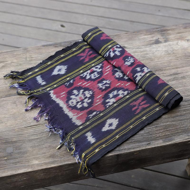 ジャワイカット(インドネシア絣・綿100%・機織り) (NRA932-05)  Rosily(ロージリー) バリ島 布 テーブルクロス