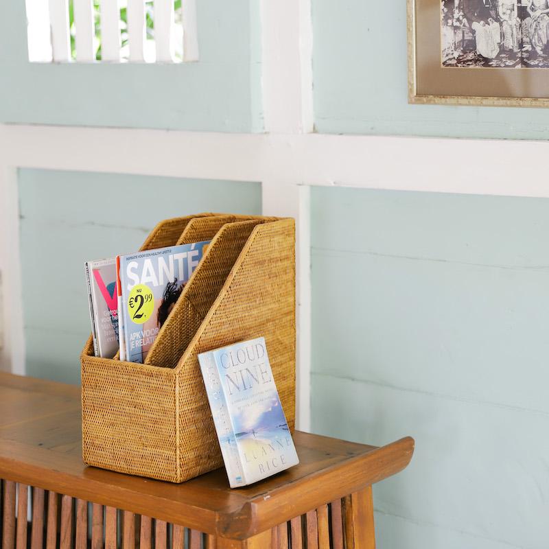 書類立て3枠  (RCB263)  Rosily(ロージリー) バリ島 アタかご雑貨 リビング 書斎 勉強部屋 収納