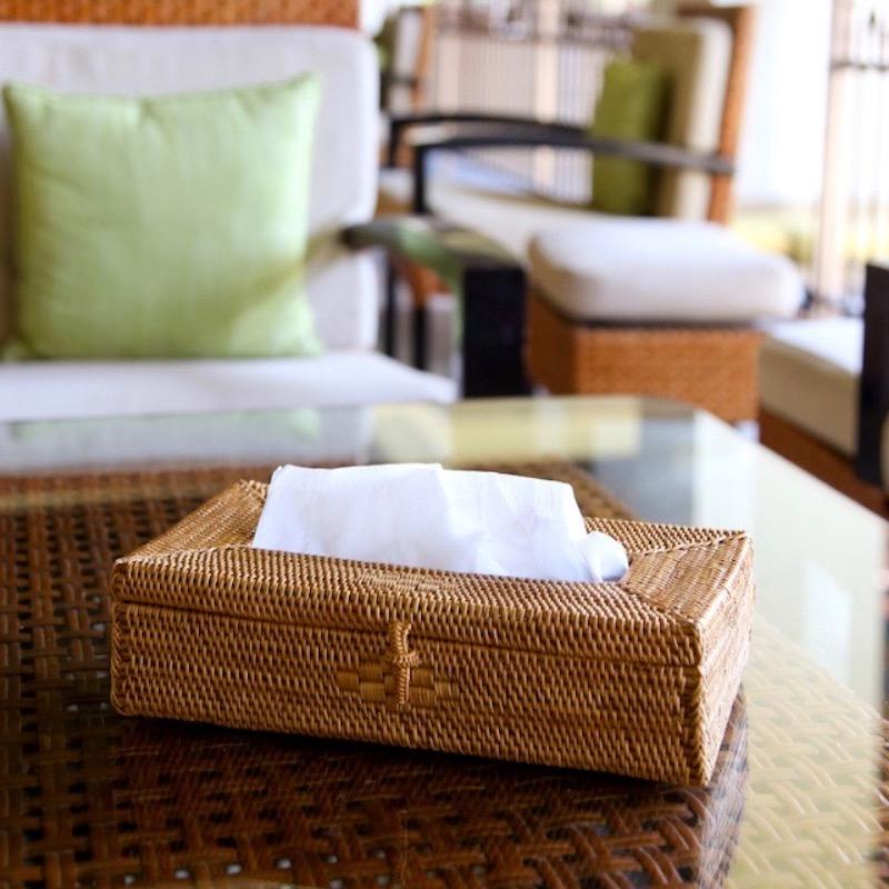 ティッシュケース 薄型 (TIS220)  Rosily(ロージリー) バリ島 アタかご雑貨 ティッシュボックス ティッシュカバー