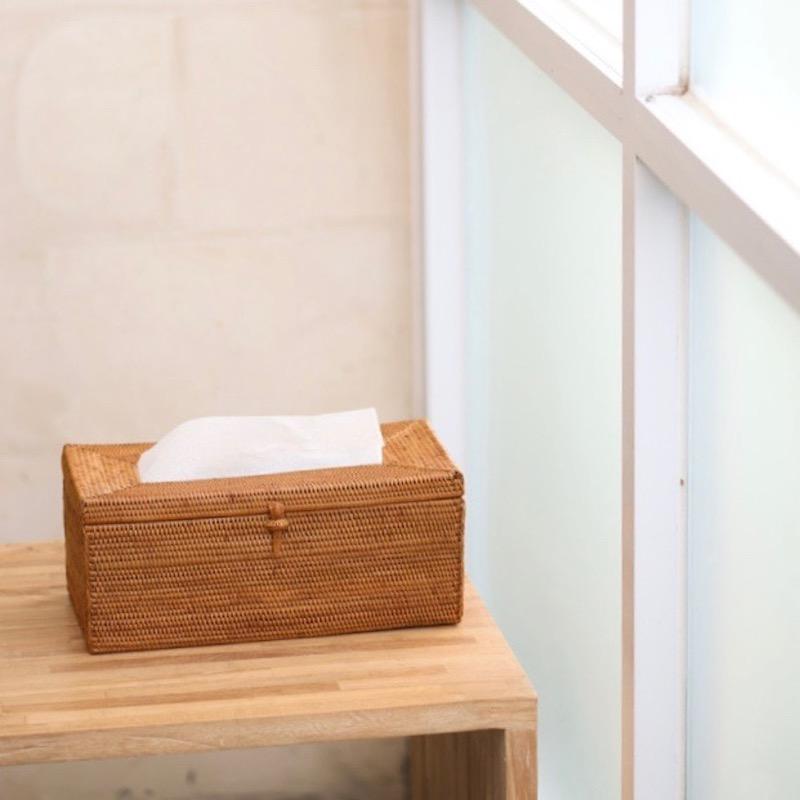 ティッシュボックス厚型(TIS221)  Rosily(ロージリー) バリ島 アタかご雑貨