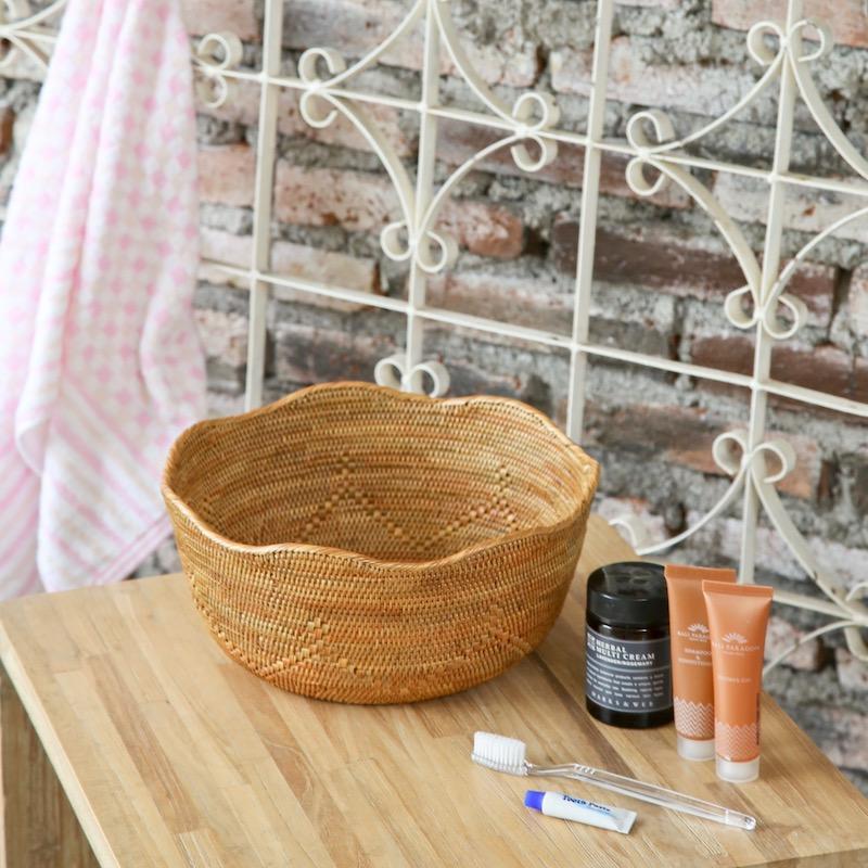 波型円形深皿Lサイズ (TRY293)  Rosily(ロージリー) バリ島 アタかご雑貨 キッチン収納