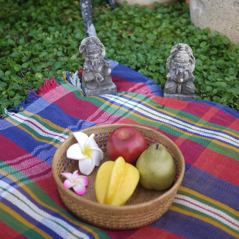 編み編み果物カゴ(TRY298)  Rosily(ロージリー) バリ島 アタかご雑貨 キッチン収納