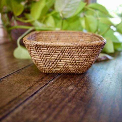 逆台形カゴSサイズ (TRY299)  Rosily(ロージリー) バリ島 アタかご雑貨