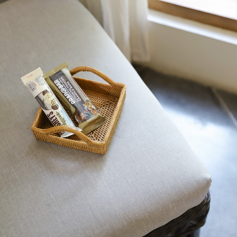 正方形取手付きトレイSS (TRY316)  Rosily(ロージリー) バリ島 アタかご雑貨 雑貨 トレイ キッチン リビング