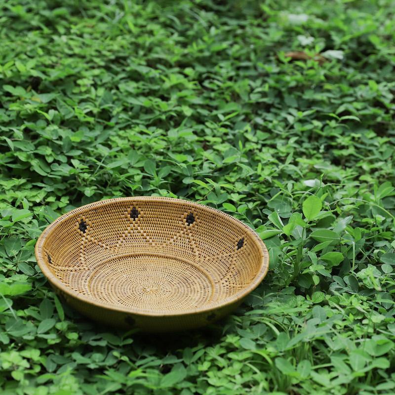 モチーフ大皿Mサイズ (TRY327)  Rosily(ロージリー) バリ島 アタかご雑貨 キッチン収納 リビング 器 トレイ テーブルウェア