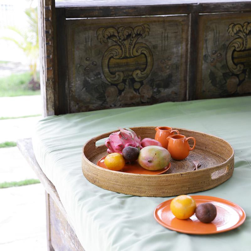 両手で持つお盆L (TRY345)  Rosily(ロージリー) バリ島 アタかご雑貨 雑貨 トレイ キッチン リビング
