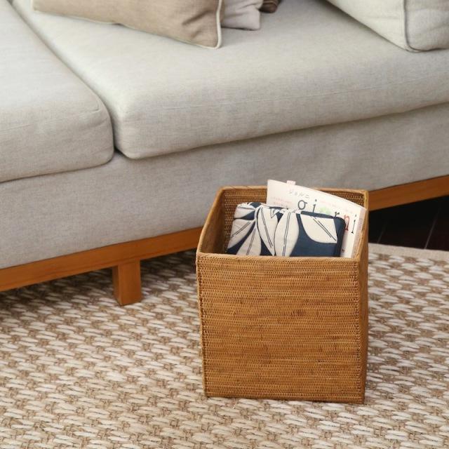 リビングボックススクエアSサイズ (BOX353)  Rosily(ロージリー) バリ島 アタかご雑貨 収納バスケット