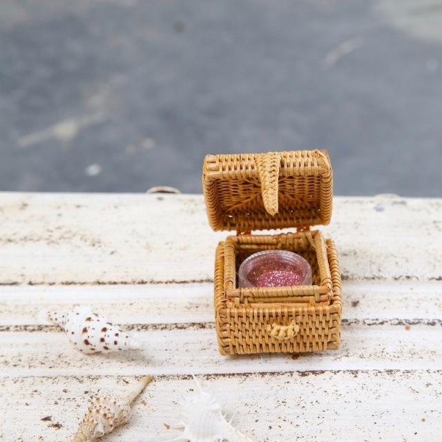 四角蓋付ミニBOX (BOX359)  Rosily(ロージリー) バリ島 アタかご雑貨 リビング収納