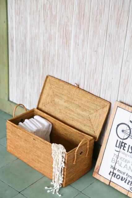 Rosily(ロージリー) バリ島 アタかご雑貨 つづら箱持手付き (BOX384)